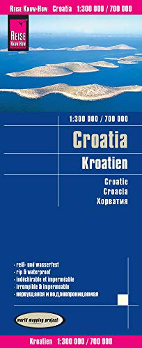 Reise Know-How Landkarte Kroatien / Croatia (1:300.000 / 700.000): reiß- und wasserfest (world mapping project)