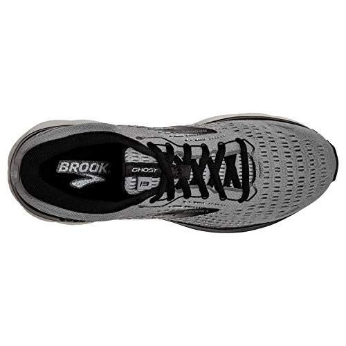 Brooks Men's Ghost 13, Primer Grey/Pearl/Black, 9.5 Medium