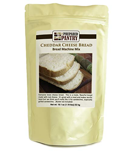 The Prepared Pantry Cheddar Cheese Bread Mix; Single Pack; For Bread Machine or Oven
