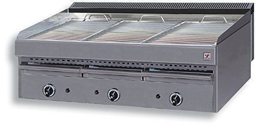 North Pro T73Gas Grill 33kW mit Wasser Schublade–LxBxH: 1130x 700x 430(Made in Griechenland)