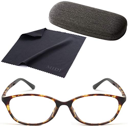 MIDIのお洒落オーバルメガネ (近眼用) スイス生まれの新素材 TR-90 製 メガネ 眼鏡 めがね おしゃれ 度付き 度入り オーバル レディース 近視 (ブラウンマーブル/PD 62mm/レンズ度数 -0.25) (m112s,c3,PD62,025