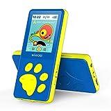 Lecteur MP3 pour Enfant, écran LCD 1,8' MP3 Enfant Avec HiFi Sound, Radio FM, Clés Paume d'ours, Jeux, Vidéo Player, Enregistreur Vocal, Extensible Jusqu'à 128 Go (Bleu)
