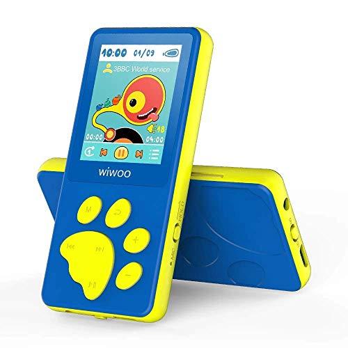 "Reproductor MP3 Con Radio FM, Dibujos Animados MP3 Player Para Niños con Diseño de Botón en Forma de Pata de oso, Pantalla LCD de 1,8"" Reproductor MP4, Juegos, Grabadora de Voz"