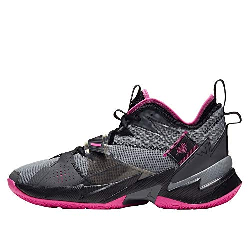 Nike Jordan Why Not ZER0.3, Zapatillas de bsquetbol Hombre, Particle Grey Pink Blast Black Iron Grey, 45 EU