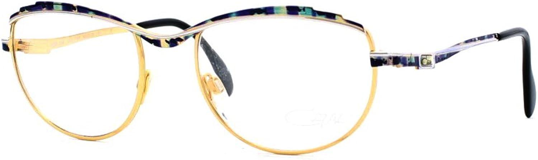 Cazal 258 428 gold Certified Vintage Rectangular Eyeglasses Frame For Womens