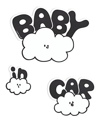 『No BoRDER(ノーボーダー) BABY IN CAR ステッカー オリジナルドライブサイン CLOUD FAMILY 【シールタイプ】 STC-002AG/S』の1枚目の画像