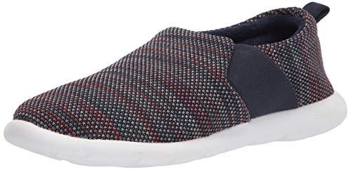 isotoner Women's Zenz Balance Sport Mesh Slipper, Slip-On Shoe, Navy Blue, 8