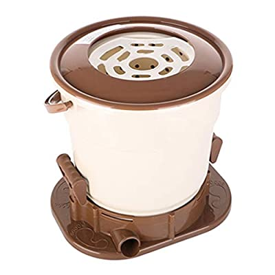 YXCKG Manual Spin Dryer, Spin Dryers Only, Camping Spin Dryer for Clothes, Space Saving, Drying Machine Hand Powered for Camping Apartments Clothes (Color : Brown)