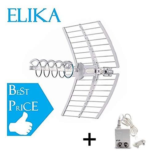 Fracarro Elika Pro Antenna Elicoidale Attiva A Puntamento Automatico Led Banda UHF Filtro LTE 213227 + Alimentatore MINI Power 12P 270021