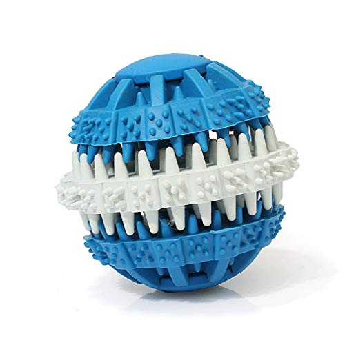TXZB Hund Molaren, Zähne, Leaky Lebensmittel Bälle, Snack Tierspielzeug, Gummi Tierspielzeug, Gummi Spielzeug (Color : Blue [Large Diameter 7cm])