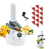 Electric Rotato Peeler with 10 Replacement Blades Kitchen Automatic Rotating Peeling Tool for Fruit & Vegetable