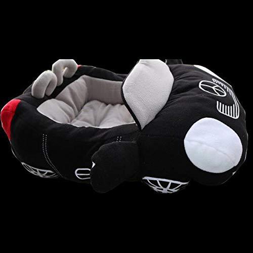 JIEJIU Pet Bed Cool Pet Dog Bed Of Car Shape Cat House Comfortable Teddy Cushion Fashion Warm Kennel Durable Pet Mat Soft, Black,72X50X30Cm