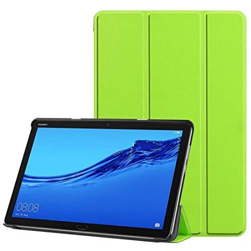 Más Casos para Tableta For Huawei MediaPad M5 Lite Caso 10.0 Pulgadas Patrón Custer Color Puro Horizontal del tirón del Cuero con el sostenedor y Trimembración con la función del sueño/Despertador