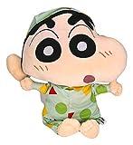 Shinnosuke Nohara Shin Chan in Green Pajamas Plush Toy Japan Anime Stuffed Toy Gift for Kids