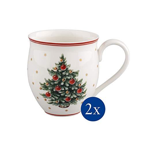 Villeroy & Boch Toy's Delight Set Mug con Manico Albero Natale, Set 2 Pezzi, Porcellana,...