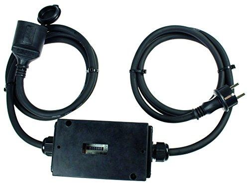 as - Schwabe 60748 MIXO Stromzähler 230V, MID geeicht mit 2×1,5 m Leitung