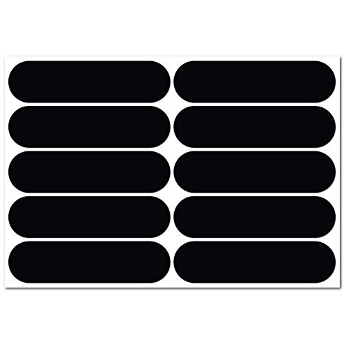 B REFLECTIVE Éco Basic, Kit de 10 Pegatinas Retro Reflectantes, Seguridad y Alta Visibilidad Nocturna, 7 x 1,8 cm, Negro