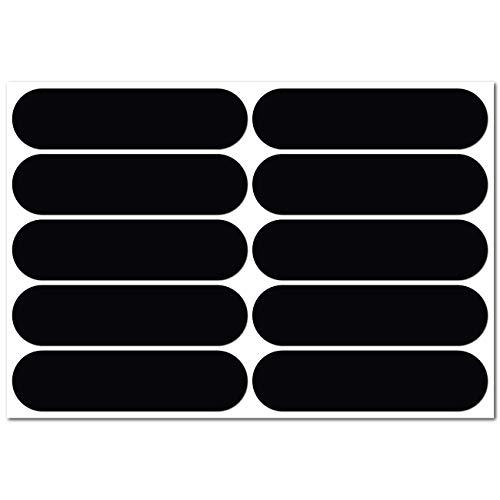 B REFLECTIVE, 10 Stück Kit Retro reflektierende Aufkleber, Nacht Sicherheit Signalisierung Klebeband Reflektor, für Fahrrad/Kinderwagen/Motorradhelme/Motorrad/Spielzeug, 7 x 1,8 cm Band, Schwarz