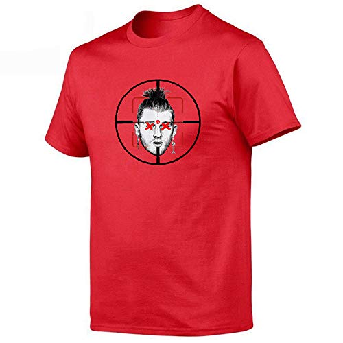 WEII T-shirt Hiphop Singer Eminem print korte mouwen T-stuk unisex losse tricot meerdere kleuren optioneel Small rood
