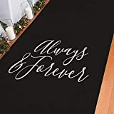 Always & Forever Black Aisle Runner - Party Decor - 1 Piece
