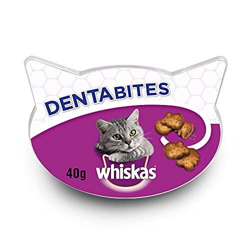 Snacks de dentibites Whiskas pour l'hygiène de Chat (Pack 8 x 40g)