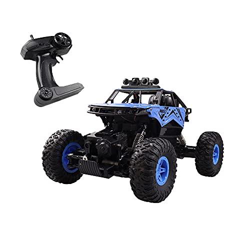 JINFENFG Vehículo todoterreno RC de 2.4GHz 4WD Vehículo de escalada todoterreno 1:14 Aleación Coche de carreras eléctrico Coche de juguete de control remoto de carga favorito para niños con luz y pulv