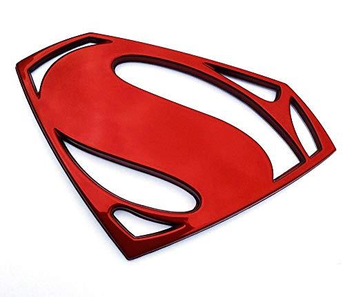 Fan Emblems Batman v Superman: Dawn of Justice 3D Car Badge - Superman Logo (Red Chrome)