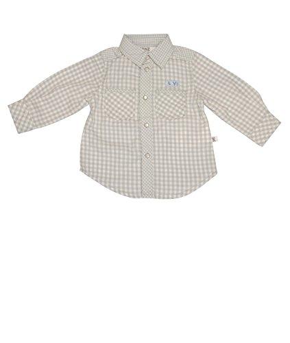 Kanz Baby - Jungen Hemd 1/1 Arm, Kariert, Gr. 80, Grau (Y/D Check Multicolored 0002)