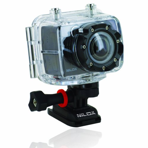 Nilox -13NXAKFH00001-Foolish Action Cam 1080p, 60 Fps, Nero