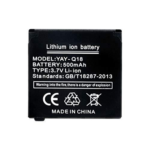 Shentop Batería De Reloj Inteligente De 3.7v 500 Mah, PolíMero De Iones De Litio Recargable Reloj Inteligente Q18 1Piece
