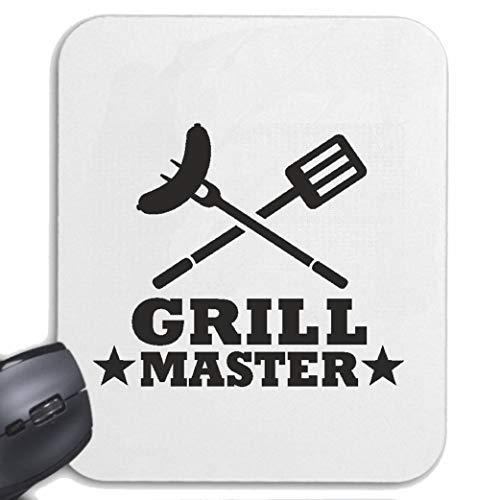 Helene muismat muismat Grill Master - Grill - Grill - BBQ - Steak voor uw laptop, notebook of Internet PC met Windows Linux in wit