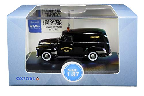 Oxford Diecast 87CV50002 Chevrolet Panel Van 1950 Washington DC Police