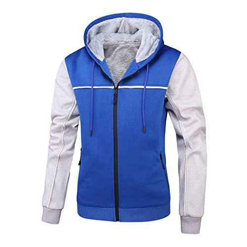 MRULIC Herren Hoodie Pullover Winter Warme Fleece Jacke Zipper Sweater Jacke Outwear Mantel RH-054