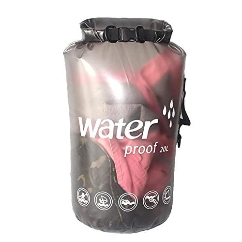 WHkeji Flotante impermeable bolsa seca al aire libre natación un hombro rafting bolsa impermeable PVC esmerilado bolsa de cubo impermeable 10-20L para kayak rafting barco Natación (negro 20L)