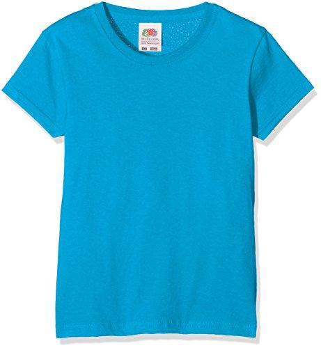 Fruit of the Loom Mädchen Valueweight T Girls T-Shirt, Blau (Azure Blue 310), Herstellergröße: 140 (9-11)