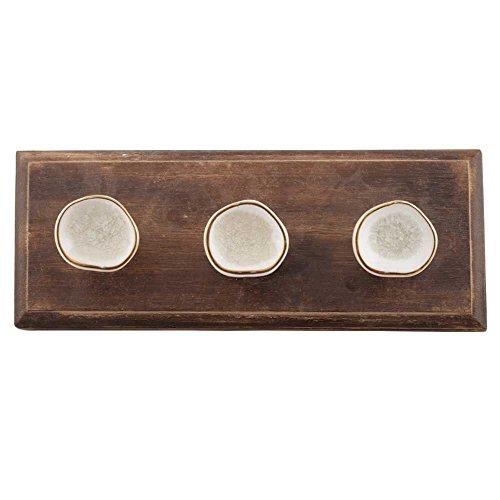 IndianShelf 1 Pieza blanco hecho a mano de madera de la pared decorativos Montada de ganchos para colgar ropa Perchas Keys titulares