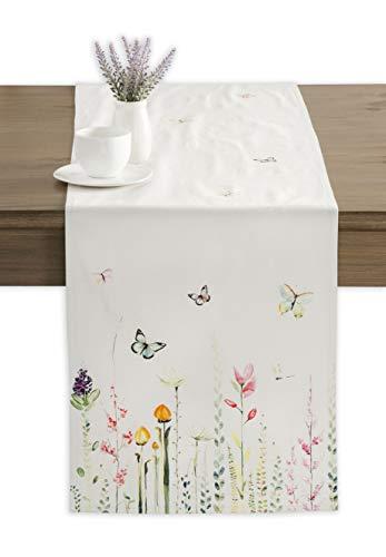 Maison d' Hermine Botanical Fresh Tischläufer aus 100% Baumwolle für Partys | Abendessen | Feiertage | Küche | Frühling/Sommer (50 cm x 150 cm)