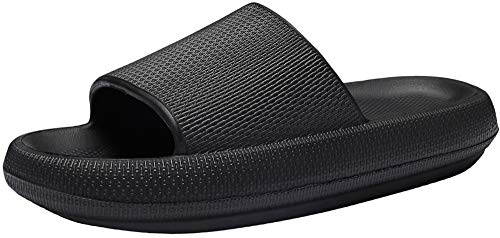 Slippers for Women and Men Quick Drying Bathroom Shower Sandals Open Toe Soft Cushioned Extra Thick Non-Slip Massage Pool Gym House Slipper for Indoor & Outdoor