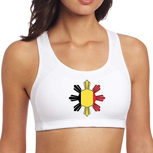 YBRB Belgien Flagge Philippinen Sun Symbol Frauen Racerback Sport BH Yoga Top