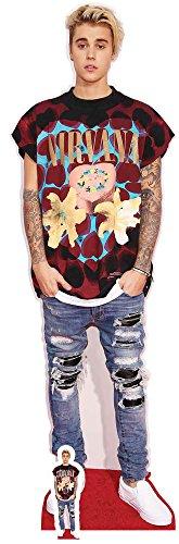 empireposter Justin Bieber - Ripped Jeans - Prominente Star VIP - Pappaufsteller Standy - 53x176 cm