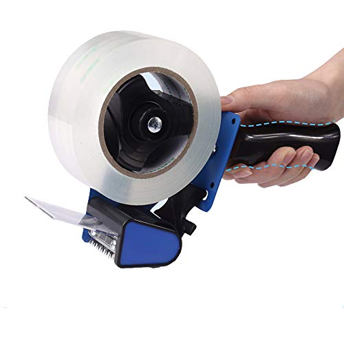 Poafamx ハンド式テープカッター 手動テープカッター 片手で使用でき 滑り止めハンドル 金属製ブラケット 手動テープディスペンサー 作業効率UP 包装梱包作業に最適 (4.5-5cmテープ適用) 日本語取扱説明書 業務用/オフィス用/家庭用/生産ライ