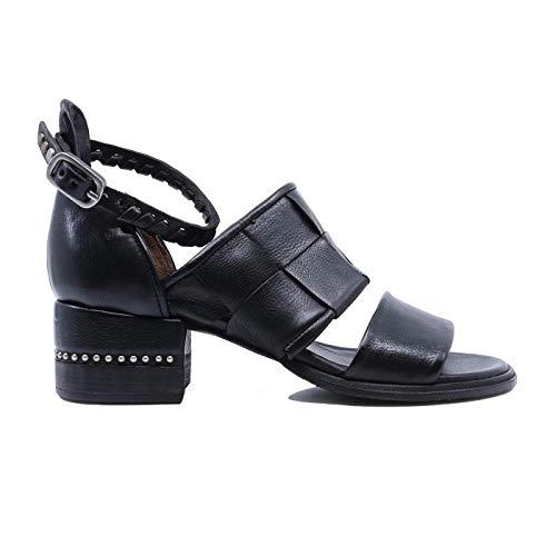A.S. 98 672021 - Sandalias de mujer de piel negra Negro Size: 39 EU