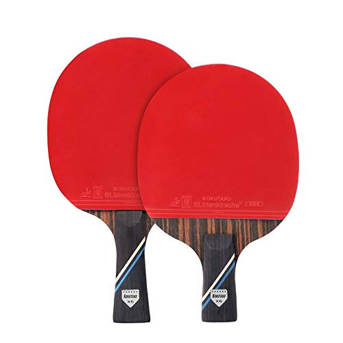 For Sale! HEXL Table Tennis Bat Rackets 2 Player Set,Portable Ping Pong Bats for Child Kids Table Te...