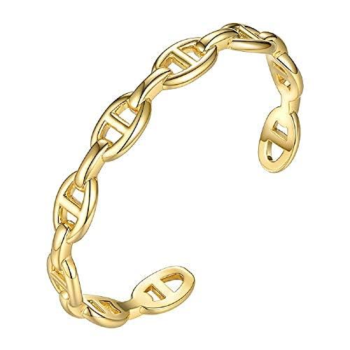 Brazalete Mariner con forma de cadena para regalo de hija/madre/abuela, brazalete de latón ambiental para pulseras de amistad