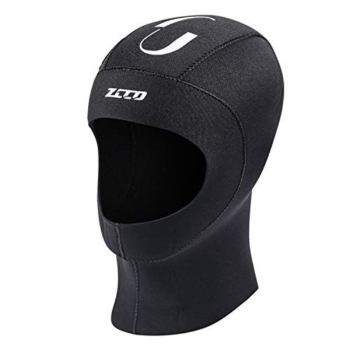 ZCCO1 Scuba Diving Hood 3mm Neoprene Wetsuit Hood Durable Stretchable Diving Cap Wetsuit, Dive Hood Surfing Thermal Hood for Surfing Snorkeling Kayaking Sailing Canoeing Water Sports (3mm, S)