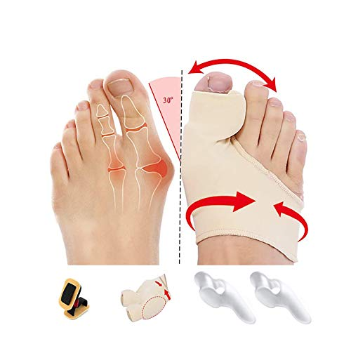 Orthopedic Bunion Corrector for Women,Toe separators,OBBOCK Protector Sleeves Kit - Treat Pain in Hallux Valgus, Hammer Toe,Big Toe Joint Toe Separators (Bunion-A-7)