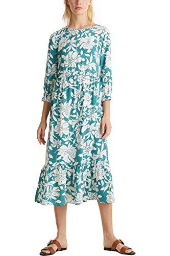ESPRIT Damen 030EE1E343 Kleid, 371/TEAL Green 2, 40