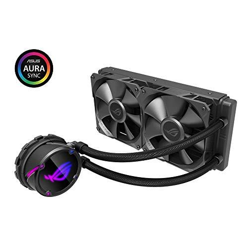 ASUS ROG Strix LC 240 (2x 120mm Lüfter, AIO Wasserkühlung, Aura Sync RGB, kein RGB Lüfter)