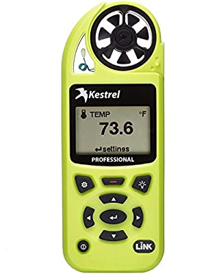 Kestrel 5200 Professional Environmental Meter with Link, HiViz Green