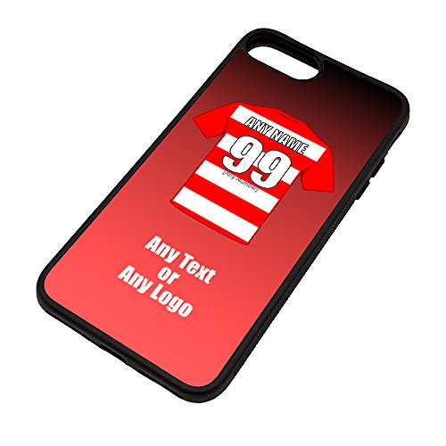 UNIGIFT Personalised Gift - Hamilton Academical iPhone 7/8 Case (Black, Football Club Design Theme) - Any Name/Message on Your Unique - Apple TPU - The Accies